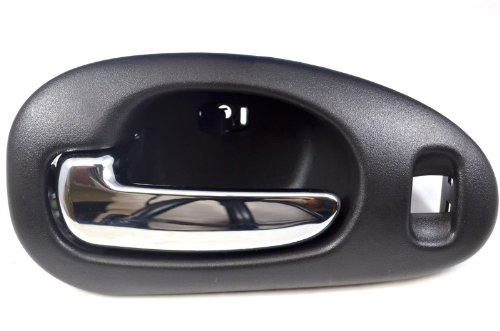PT Auto Warehouse CH-2334MA-FL - Inside Interior Inner Door Handle, Black Housing with Chrome Lever - Driver Side Front