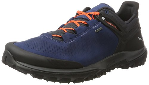 SALEWA Herren Wander Hiker Gore-Tex Halbschuh, Zapatos de Low Rise Senderismo para Hombre Multicolor (Dark Denim/holland)