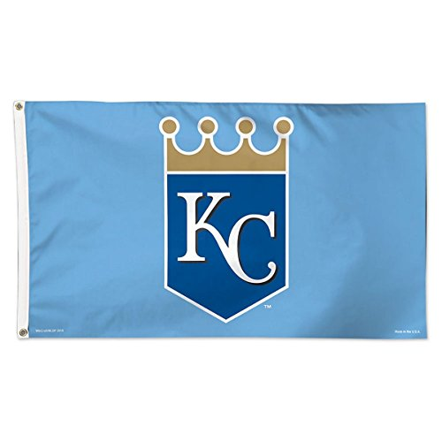 Kansas City Royals Flag 3x5 Crown Logo on Light Blue Grommets Reinforced Flyend Deluxe MLB