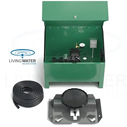 airpro deluxe pond aerator kit by living water rocking piston pond aeration system for up