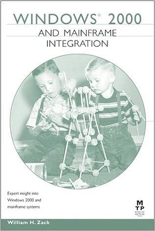Ebook pour dot net téléchargement gratuit Windows 2000 and Mainframe Integration (Circle series) by William Zack (1999-10-13) PDF