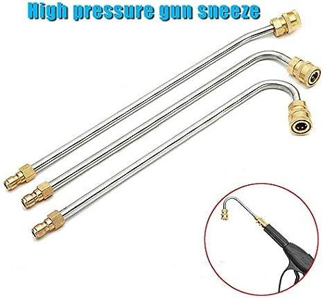30 cannes courb/ées. Abracing Nettoyeur haute pression Gutter Rod Cleaner Embout pour Lance Wand 1//4 Quick Connect 17CM