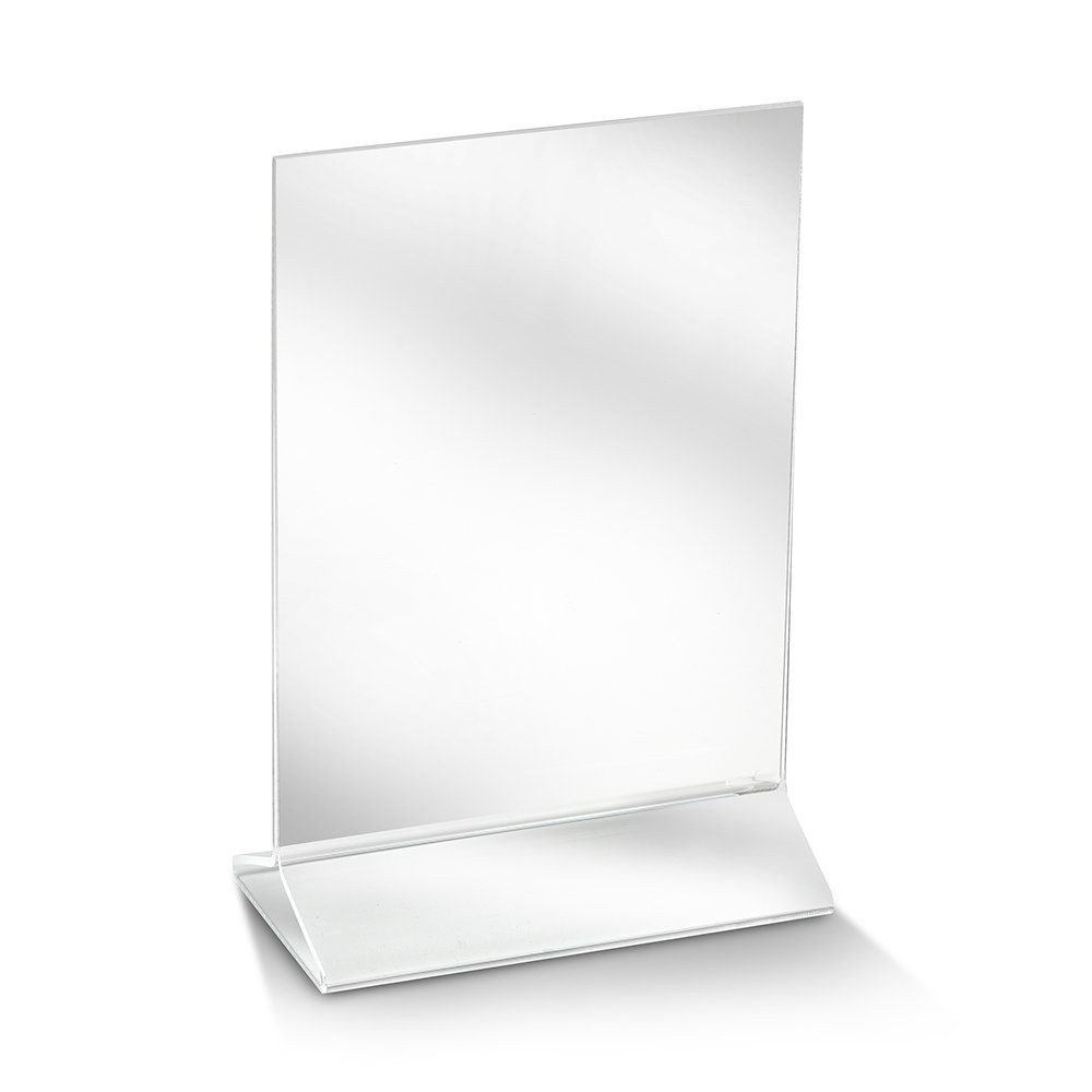 ChefLand Acrylic Sign Holder/Table Card Display/Plastic Upright Menu, 4 by 6-Inch, Clear, 6-Pack 08028