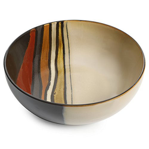 Gibson Elite 99838.01RM Matrice Red Serving Bowl, One Size, Multi color by Gibson Elite (Image #1)