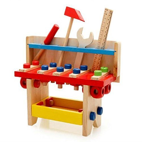 AxiEr Colorful Wooden Tool Bench Tool Sets Box Workbench ...