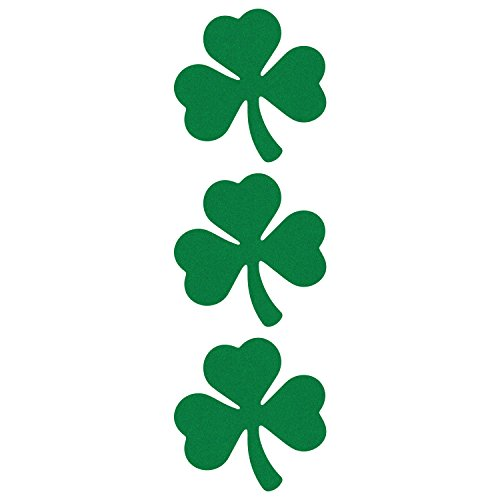 LiteMark Reflective Green 2 Inch Shamrock Sticker Decals for Hard Hats, Helmets, Tool Boxes and More - Pack of 3