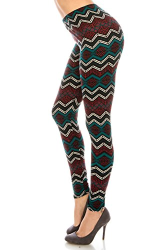 Women's Printed Fashion Leggings Ultra Soft Solid Patterned Cool Plus Size Patterned Leggings