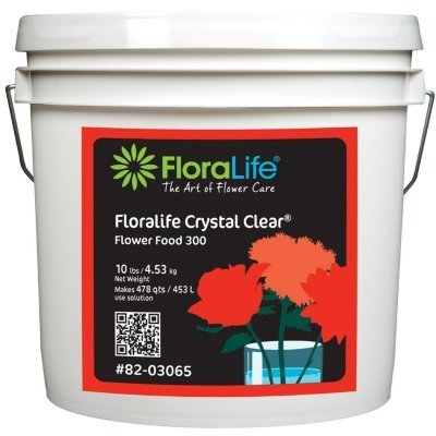 Floralife Crystal Clear® Flower Food 300 Powder, 10 Lb. (Bucket Flower Florist)