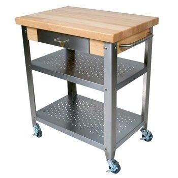 Cucina Elegante Kitchen Cart (Maple/Stainless Steel) (37