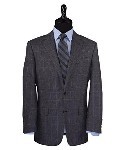 - Wilkes & Riley Grey Textured Ground Windowpane 100% Merino Wool Sports Jacket