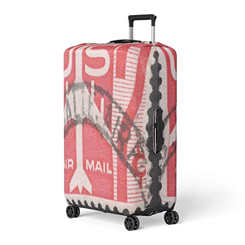 Pinbeam Luggage Cover Moscow Russia Circa November Post Stamp Printed Travel Suitcase Cover Protector Baggage Case Fits 22-24 inches