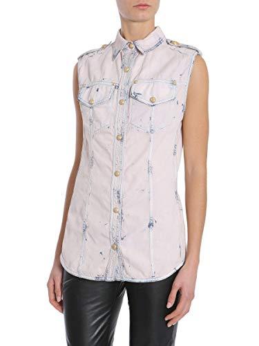 Rosa Mujer Balmain Algodon Camisa 1341340nc5838 HS1qPxE