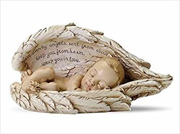 Joseph Studio Sleeping Baby Wrapped in Angel Wings Figurine (Words Of Sympathy For Loss Of Newborn Baby)