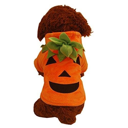 pkin Cool Cute Dog Pet Cosplay Costume (XS, Orange) ()