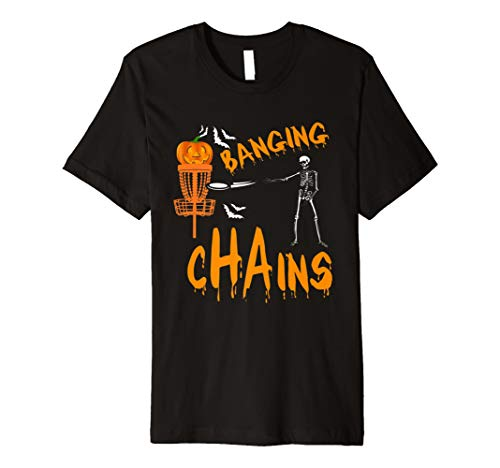 Halloween Funny Disc Golf Frolf Tshirt skeleton Costume]()