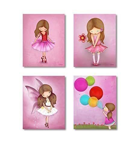 Bedroom Artwork Prints: Amazon.com: Kids Bedroom Wall Posters For Girls Room