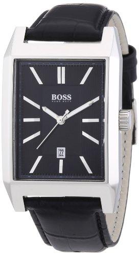 Hugo Boss 1512915 Leather Mens Watch - Black Dial