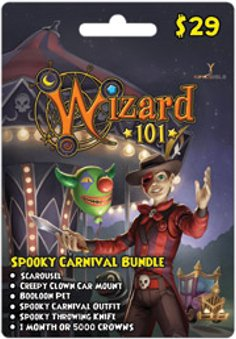 Wizard 101 Spooky Carnival Bundle Prepaid Game Card (Wizards 101)
