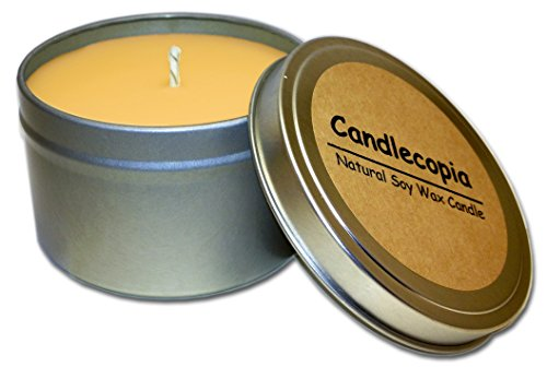 Candlecopia Autumn Woods Strongly Scented Sustainable Vegan Natural Soy Travel Tin Candle