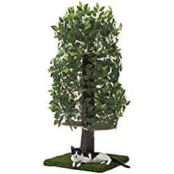 On2Pets CatHaven Cat Condo Furniture, Tree House Tower for Climbing, Playing, Scratching, and Relaxing - 60 in. high