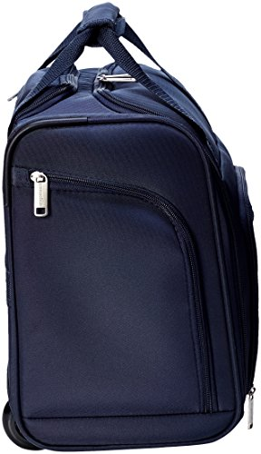 AmazonBasics Underseat Carry-On Rolling Travel Luggage Bag, Navy Blue