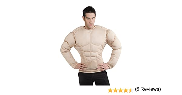 Rubies - Disfraz pecho musculoso, para hombre, talla única (S8147 ...