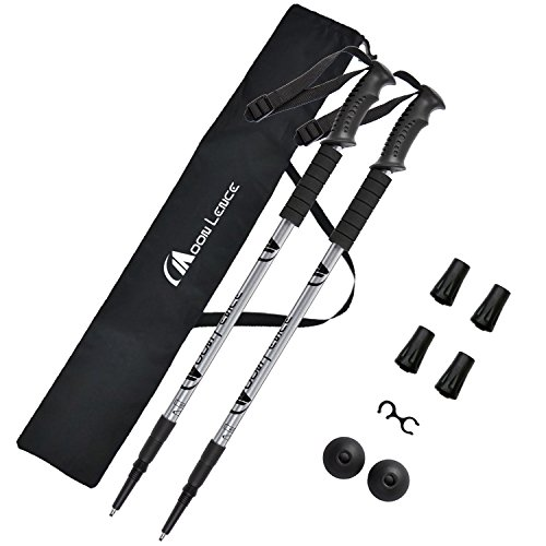 e Trekking Poles Lightweight Telescopic Walking Sticks Ultralight Collapsible Climbing Hiking Poles for Mountaining Backpacking 2-pc/Pack ()