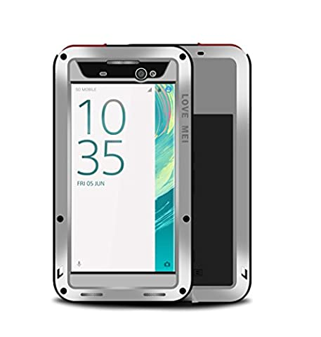 Sony Xperia XA Ultra Case,Mangix Water Resistant Shockproof Aluminum Metal Super Anti Shake Silicone Fully Body Protection With Gorilla Glass Screen Protector for Sony Xperia XA Ultra (Cell Phones Cases Sony Xperia)