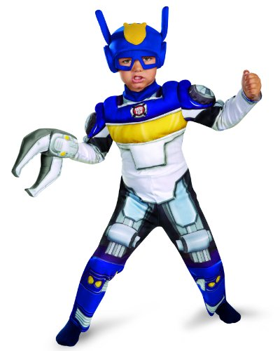 [Disguise Boy's Transformers Chase Rescue Bots Toddler Muscle Costume, 3T-4T] (Used Plus Size Halloween Costumes)