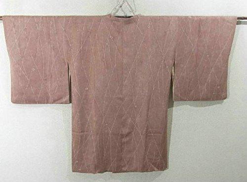 リサイクル 道行コート  縞に絞り模様  裄62.5cm 身丈86cm