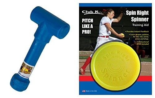 SPIN RIGHT SPINNER & Ernie Parker's WRIST SNAPPER Fastpitch Softball Pitching Training Aids Equipment