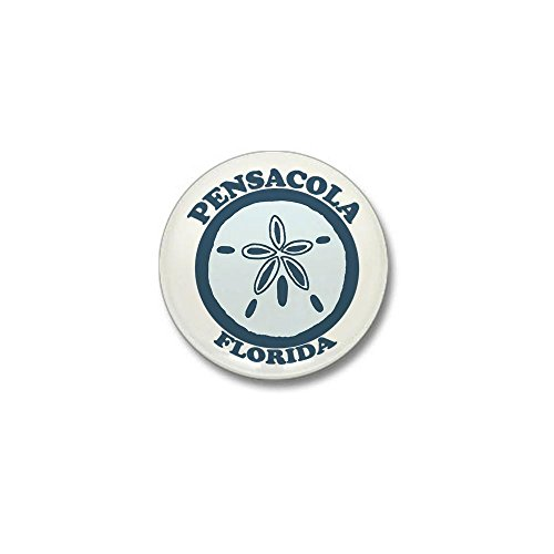CafePress - Pensacola Beach - Sand Dollar Design. Mini Button - 1