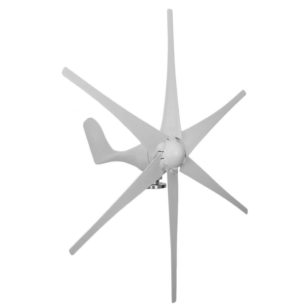 Kath 500W 48V Wind Turbine, Wind Turbine Generator kit with 6 Blades for Home, Monitoring, Boat use, Wind Solar Hybrid Streetlight(White)