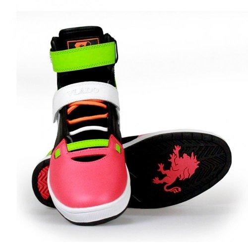 VLADO FOOTWEAR - PHALANX - Baskets montantes - Green White Pink