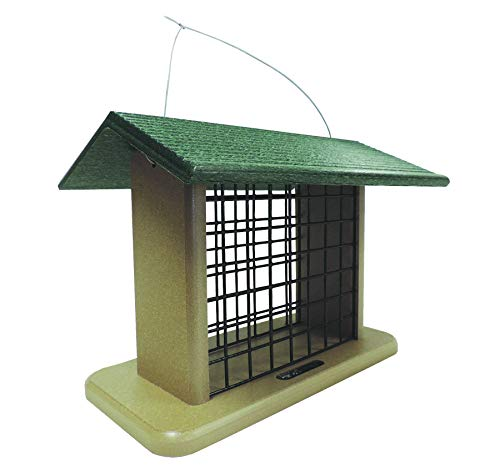 (Birds Choice Suet & Seed Block Cage Feeder with Base and Roof Top)