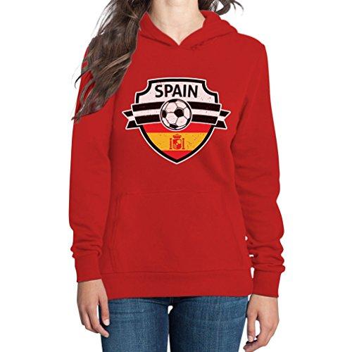 Spain Felpa cappuccio con Coppa da Mondo donna Come Rosso Spagna Team on del RT5Tqwg