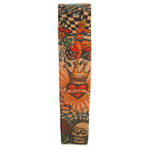 Tattoo Sleeve (Crowned Heart & Skull) ~ Party & Halloween Accessory