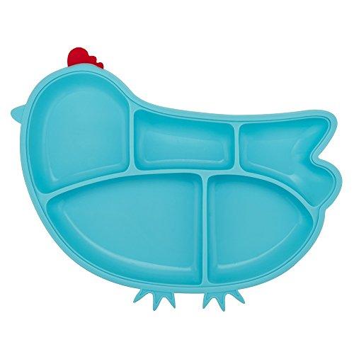 Innobaby Din Din Smart Silicone Suction Chicken Plate for Children, Blue