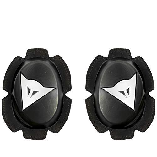 Dainese Pista Black/White Knee Slider - High Durability Model