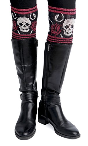 Green 3 Women's Skull Boot Cuffs,Skull,One Size