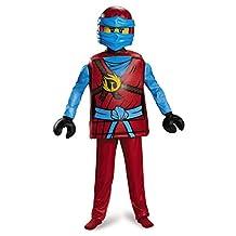 Disguise Costumes Nya Deluxe Ninjago Lego Costume, Medium/7-8