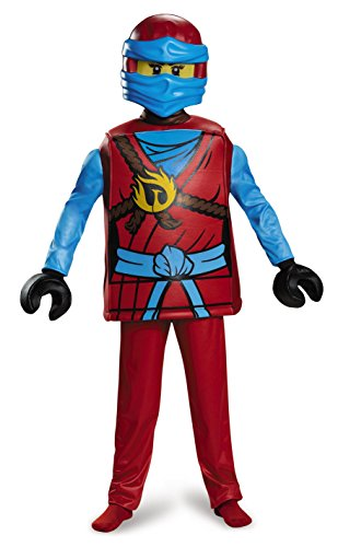 Lego Minifigure Halloween Costume (Nya Deluxe Ninjago LEGO Costume, Medium/7-8)
