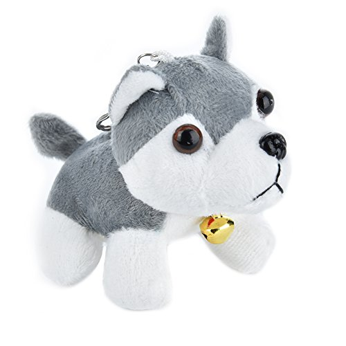 Gray Soft Toy - Myonly Husky Plush Keychain, Dog Plush Stuffed Animal Toy Keychain Hanging Doll Lucky Charm Soft Toy (gray)