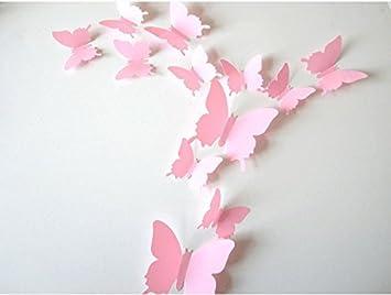 Dekoration Für Kinderzimmer   Sunbeauty 12er Set Schmetterling Fensterdeko Wanddeko Dekoration
