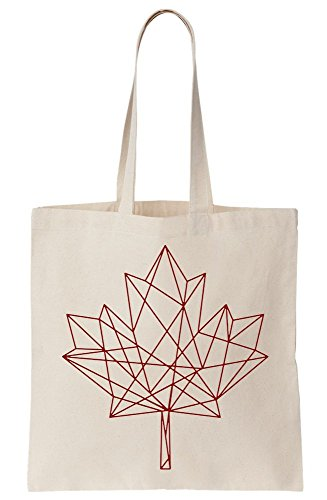 In Sketch Canvas Maple Bag Tote Line Leaf Modern qwTwH5A