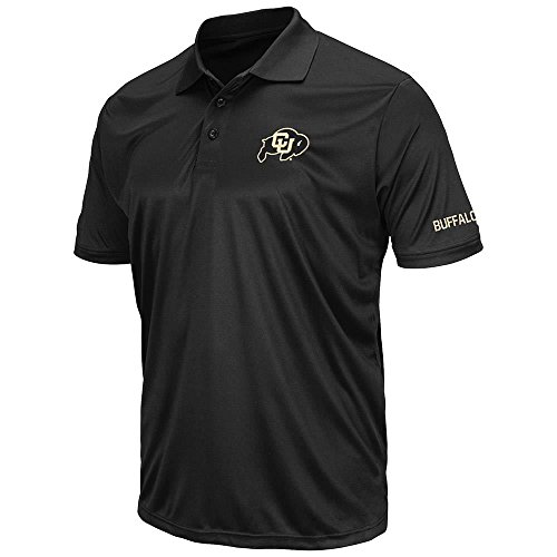 (Mens Colorado Buffaloes Short Sleeve Polo Shirt - L)