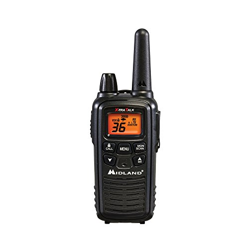 Midland - LXT600VP3, 36 Channel FRS Two-Way Radio - Up to 30 Mile Range Walkie Talkie, 121 Privacy Codes, NOAA Weather Scan + Alert (Pair Pack) (Black) by Midland (Image #2)
