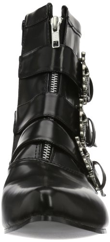 Pleaser Mens Brogue-06 Stivale In Poliuretano Nero