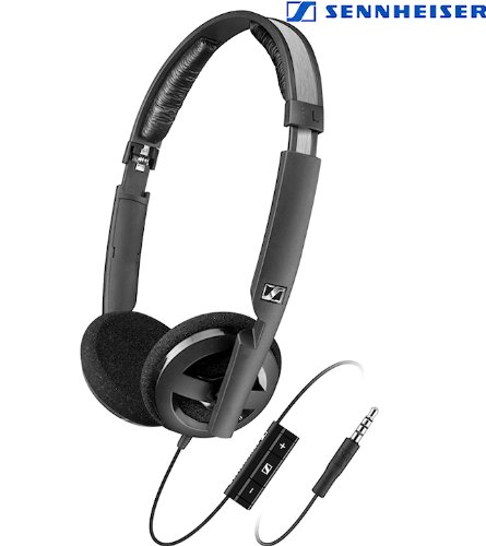 i Light Weight Supra-Aural Headset with 3 Button Control for i-Pod,i-Phone and i-Pad (Black) ()