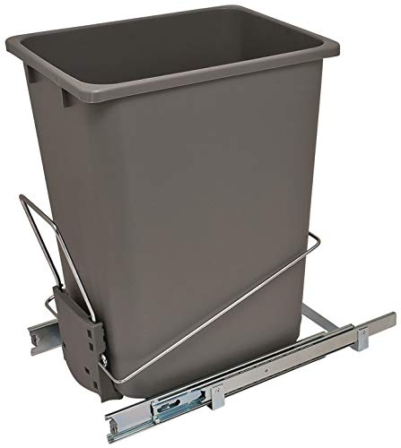 Hafele Single - Hafele Wire Trash Can, 36 qts Capacity, 88 lbs Load Bearing Capacity, Easy Installation